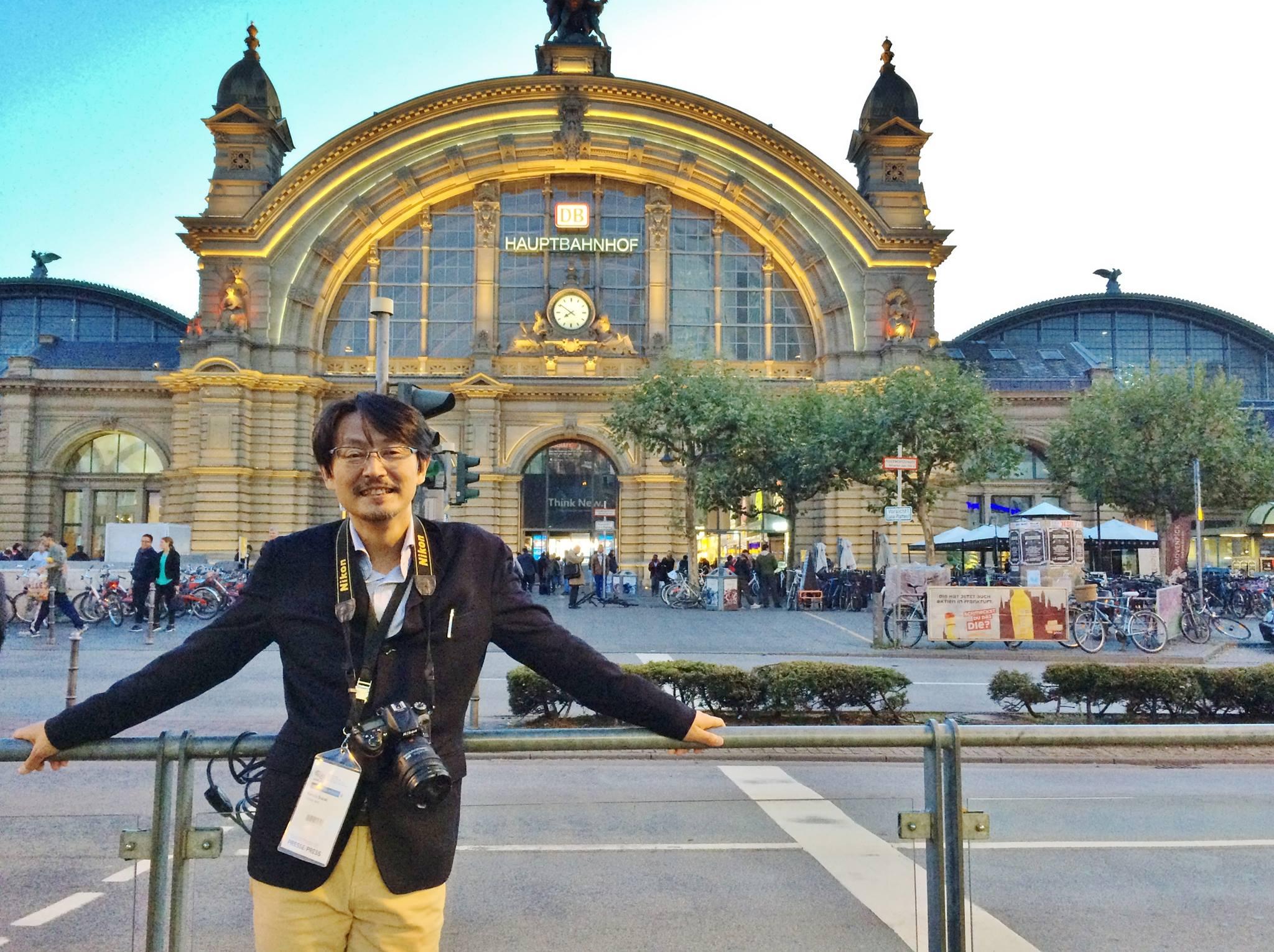 フランクフルトモーターショーを取材するため、ドイツに滞在した鈴木さん