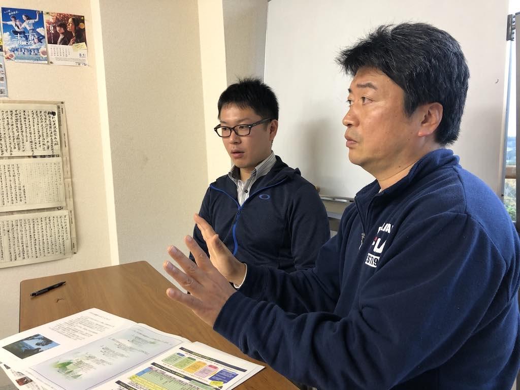 出口拓矢先生(写真・左)と皆川剛先生(写真・右)